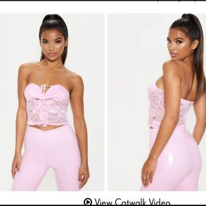 PYT lilac lace crop top NEW with tags